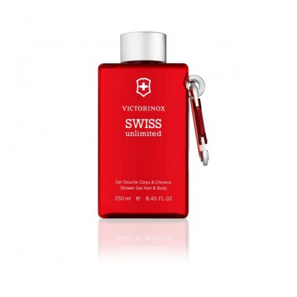 Victorinox Swiss Unlimited Red Shower Gel Hair & Body